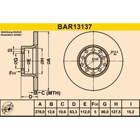 Bremsscheibe Art. Nr. BAR13137 120,00€