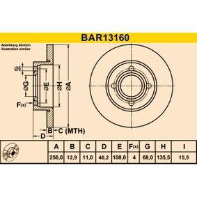 Bremsscheibe Bremsscheibendicke: 12,9mm, Lochanzahl: 4, Ø: 256,0mm mit OEM-Nummer 431615301