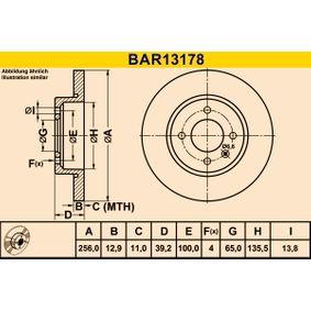 Bremsscheibe BAR13178 Golf 4 Cabrio (1E7) 1.6 Bj 2002