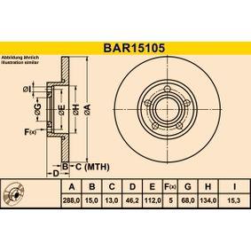 Bremsscheibe Art. Nr. BAR15105 120,00€