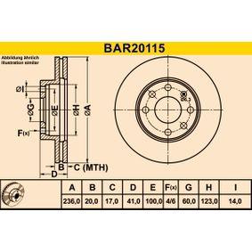 Bremsscheibe Art. Nr. BAR20115 120,00€