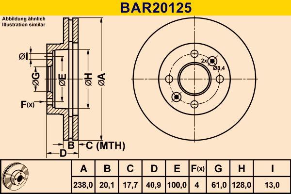 Scheibenbremsen Barum BAR20125 Bewertung