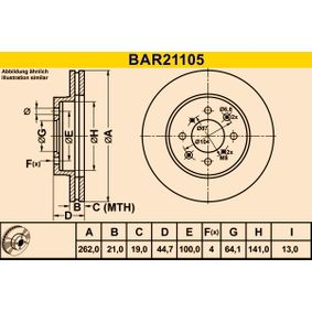 Спирачен диск BAR21105 25 Хечбек (RF) 2.0 iDT Г.П. 2002