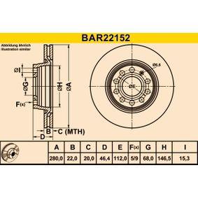 Bremsscheibe Art. Nr. BAR22152 120,00€