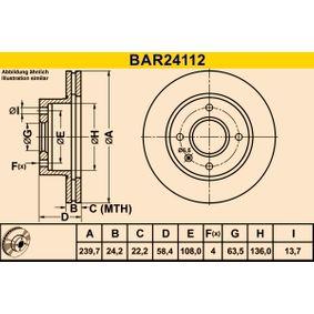 Barum Brake disc kit Vented
