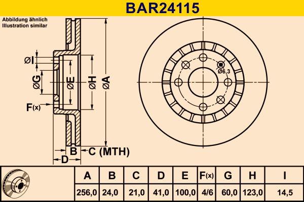 Scheibenbremsen Barum BAR24115 Bewertung