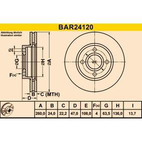 Bremsscheibe Art. Nr. BAR24120 120,00€