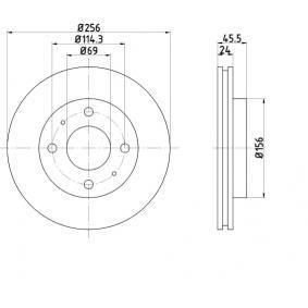 Disco freno BAR24136 SAPPORO 3 (E16A) 2.4 ac 1990