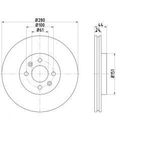 Bremsscheibe BAR24158 Scénic 1 (JA0/1_, FA0_) 1.9 dTi Bj 2002