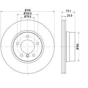 Bremsscheibe Bremsscheibendicke: 24,0mm, Lochanzahl: 5, Ø: 310,0mm mit OEM-Nummer 34 11 6 764 021