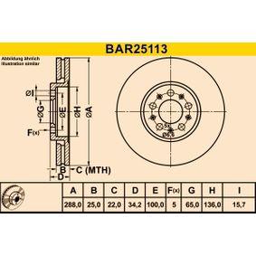 Bremsscheibe Art. Nr. BAR25113 120,00€