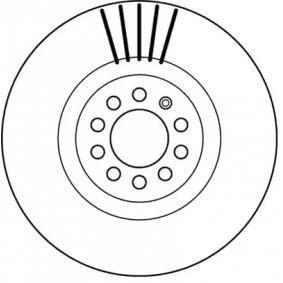Bremsscheibe Bremsscheibendicke: 25,0mm, Lochanzahl: 5, Ø: 312,0mm mit OEM-Nummer 8N0615301A