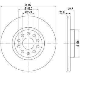 BARUM Bremsscheibe BAR25158 mit OEM-Nummer 1K0615301AA
