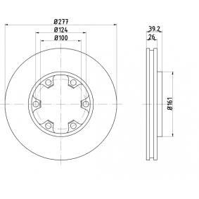 Bremsscheibe Bremsscheibendicke: 26,0mm, Lochanzahl: 6, Ø: 277,0mm mit OEM-Nummer 1954433