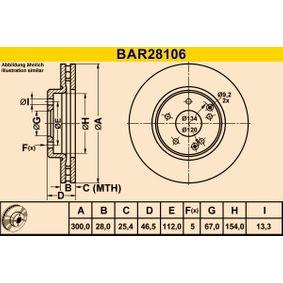 Bremsscheibe Art. Nr. BAR28106 120,00€
