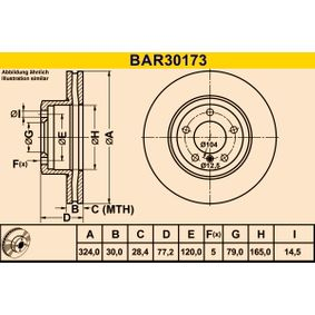 Bremsscheibe BAR30173 5 Limousine (E60) 525i 2.5 Bj 2004