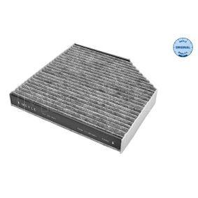 Filter, Innenraumluft Länge: 256mm, Breite: 253mm, Höhe: 35mm mit OEM-Nummer 4H0-819-439