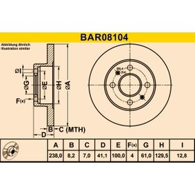 2007 Twingo c06 1.2 Brake Disc BAR08104