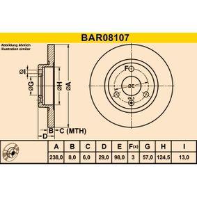 Bremsscheibe Art. Nr. BAR08107 120,00€