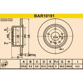 Bremsscheibe Art. Nr. BAR10191 120,00€