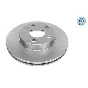 Bremsscheibe Bremsscheibendicke: 24mm, Lochanzahl: 5, Ø: 280mm mit OEM-Nummer 7D0.615.301A
