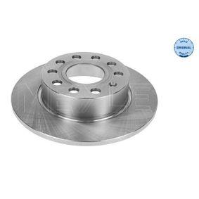 Bremsscheibe Bremsscheibendicke: 10mm, Lochanzahl: 5, Ø: 255mm mit OEM-Nummer 1K0 615601AB