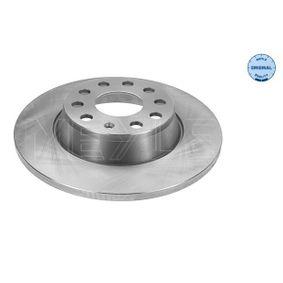Bremsscheibe Bremsscheibendicke: 12mm, Lochanzahl: 5, Ø: 286mm mit OEM-Nummer 1K0 615 601AD