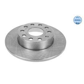 Bremsscheibe Bremsscheibendicke: 12mm, Lochanzahl: 5, Ø: 257mm mit OEM-Nummer 1K0 615 601AC