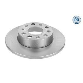 Bremsscheibe Bremsscheibendicke: 12mm, Lochanzahl: 5, Ø: 257mm mit OEM-Nummer 1K0 615 601AJ