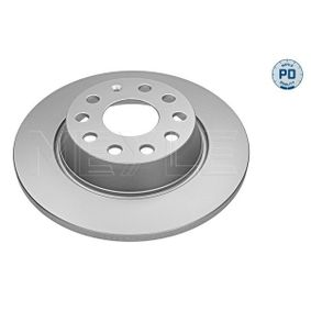 Brake Disc Brake Disc Thickness: 12mm, Num. of holes: 5, Ø: 282mm with OEM Number 5Q0615601G