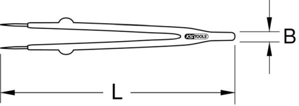 Pinzetta KS TOOLS 117.1629 valutazione