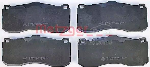 Bremsbeläge 1170830 METZGER 24316 in Original Qualität