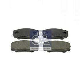Brake Pad Set, disc brake Width: 109,5mm, Height: 50mm, Thickness: 19,1mm with OEM Number E 172 124