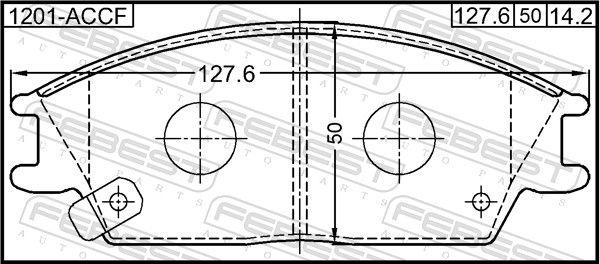Bremsbelagsatz FEBEST 1201-ACCF Bewertung