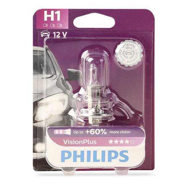 Bulb, spotlight 12258VPB1 PHILIPS H1 original quality