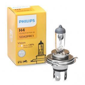 Крушка с нагреваема жичка, фар за дълги светлини H4, 60/55ват, 12волт, Vision 12342PRC1