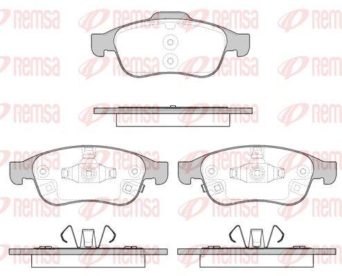REMSA  1248.12 Bremsbelagsatz, Scheibenbremse Höhe 2: 59,4mm, Höhe: 64,7mm, Dicke/Stärke: 18,8mm