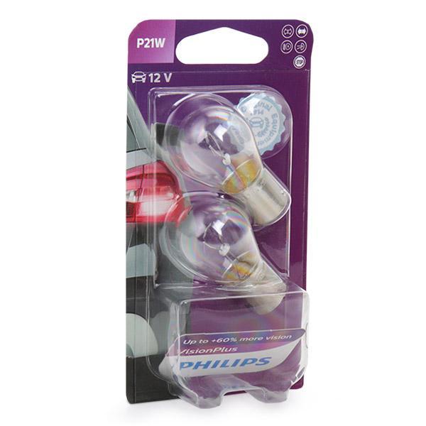 Bulb, indicator 12498VPB2 PHILIPS P21W original quality