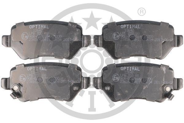 Bremsbeläge 12642 OPTIMAL 23655 in Original Qualität