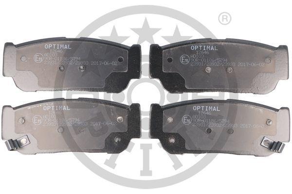 Bremsbeläge 12646 OPTIMAL 23933 in Original Qualität