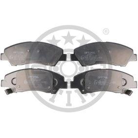 Bremsbelagsatz, Scheibenbremse Höhe: 50,5mm, Dicke/Stärke: 15,8mm mit OEM-Nummer 58101-B9A70