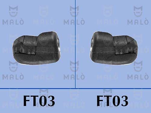 MALÒ  127223 Heckklappendämpfer / Gasfeder Länge: 546mm, Hub: 214mm