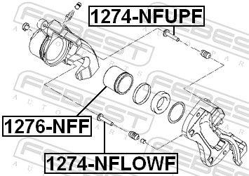 Guide Bolt, brake caliper FEBEST 1274-NFUPF rating