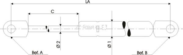 JP GROUP  1281204409 Heckklappendämpfer / Gasfeder Länge über Alles: 510mm, Hub: 200mm