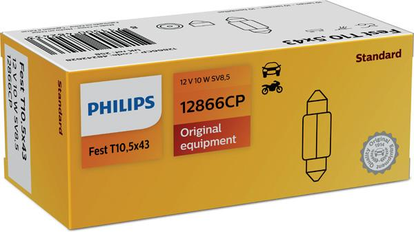 Lámpara, piloto de matrícula PHILIPS 12866CP 8711500482426