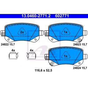 Bremsbelagsatz, Scheibenbremse Breite: 116,6mm, Höhe: 52,5mm, Dicke/Stärke: 15,7mm mit OEM-Nummer 68029887AA