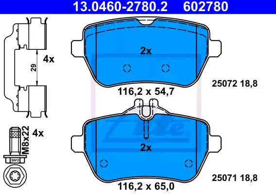Bremsbelagsatz ATE 25071 Bewertung