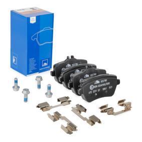 Bremsbelagsatz, Scheibenbremse Breite: 116,2mm, Höhe 1: 54,7mm, Höhe 2: 65,0mm, Dicke/Stärke: 18,8mm mit OEM-Nummer 008 420 34 20