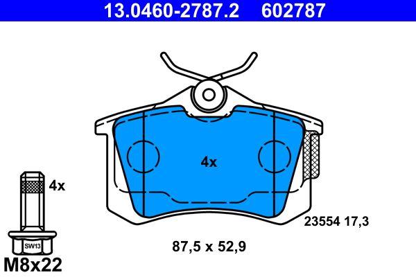 Bremsbelagsatz ATE 602787 Bewertung