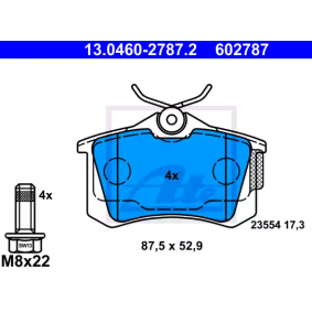 Bremsbelagsatz, Scheibenbremse Breite: 87,5mm, Höhe: 52,9mm, Dicke/Stärke: 17,3mm mit OEM-Nummer 5Q0.698.451M